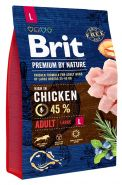 BRIT Premium by Nature Adult L Корм для взрослых собак крупных пород (3 кг)