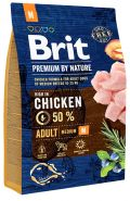 BRIT Premium by Nature Adult M Корм для взрослых собак средних пород (8 кг)