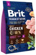 BRIT Premium by Nature Adult S Корм для взрослых собак мелких пород (3 кг)