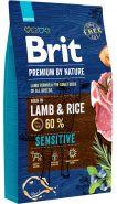 BRIT Premium by Nature Sensitive Lamb & Rice Корм для собак всех пород с чувствительным пищеварением (8 кг)