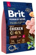 BRIT Premium by Nature Junior L Корм для молодых собак крупных пород (3 кг)
