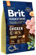 BRIT Premium by Nature Junior M Корм для молодых собак средних пород (3 кг)