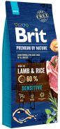 BRIT Premium by Nature Sensitive Lamb & Rice Корм для собак всех пород с чувствительным пищеварением (15 кг)