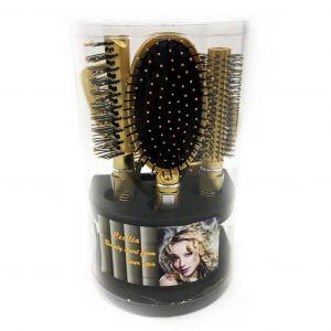 Подарочный набор расчесок для волос Cecilia, 5 шт цвет золотистый
