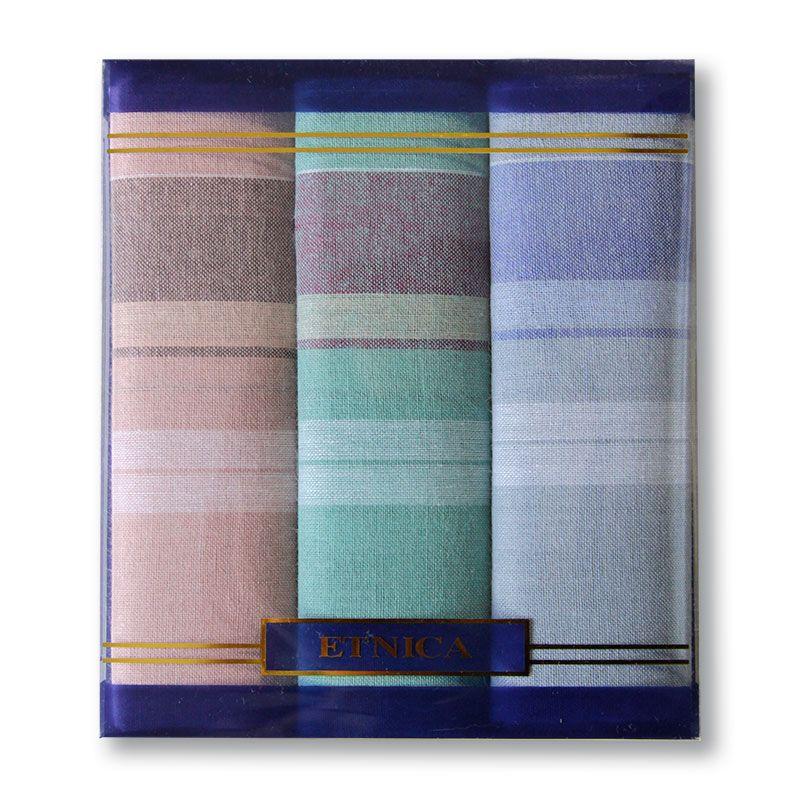 Пд15л Мужские носовые платки в подарочной коробке, 3 шт., 100% х/б