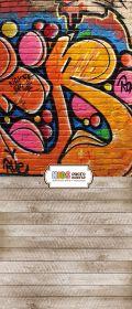 """Фон """"Graffiti"""" 3x1,5 (3,5x1,5 м)"""