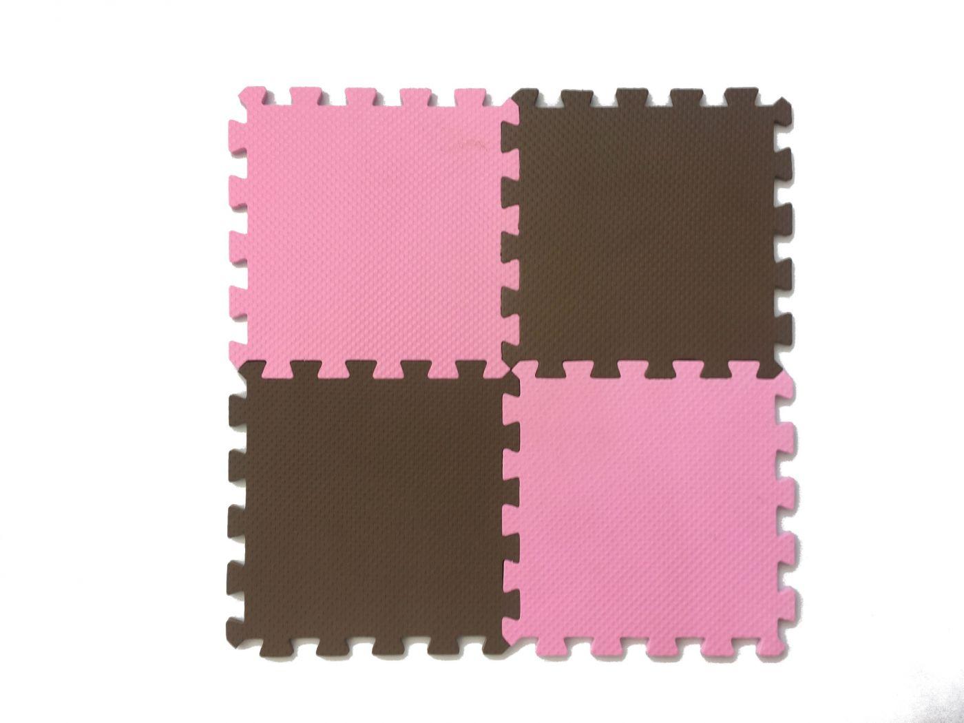 Мягкий пол универсальный 25*25 (см) розово-коричневый