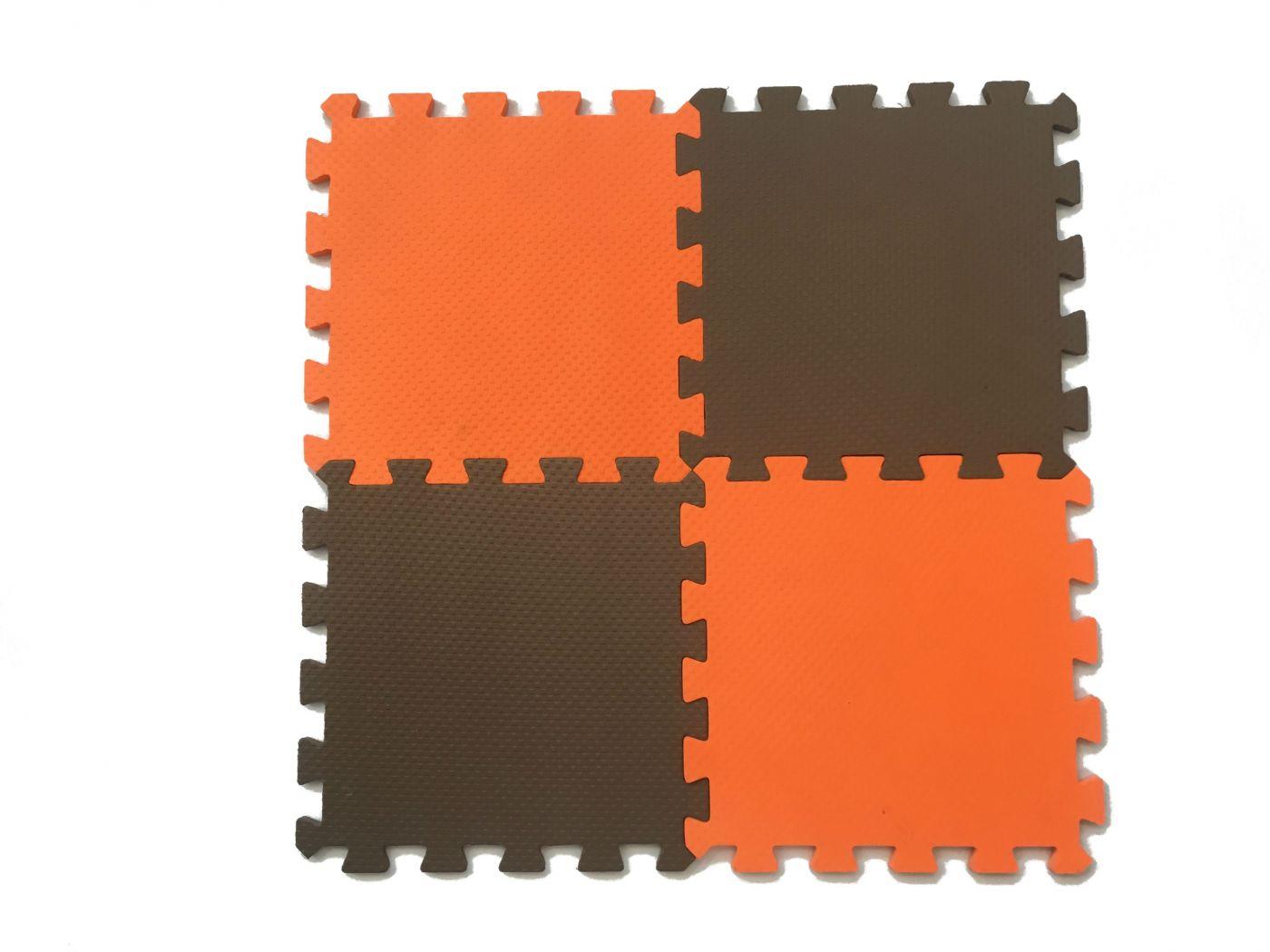 Мягкий пол универсальный 25*25(см) оранжево-коричневый