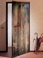 Наклейка на дверь - Посылка для Робинзона | магазин Интерьерные наклейки