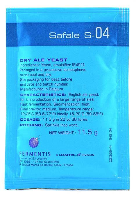 Дрожжи Fermentis Safale S-04, 0,5 кг