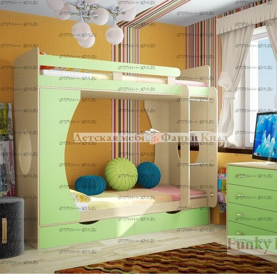Кровать двухъярусная Фанки Кидз-2 ФМ