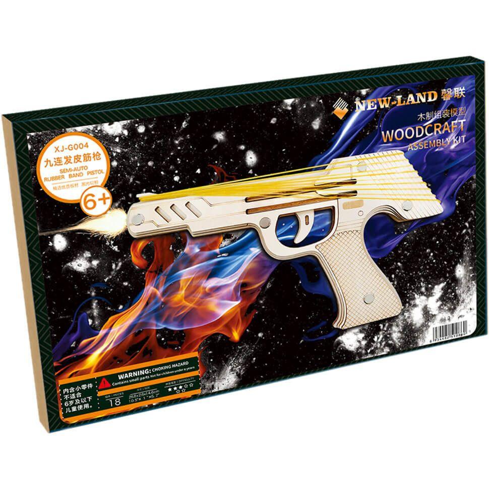Пистолет Резинкострел деревянный 3D пазл