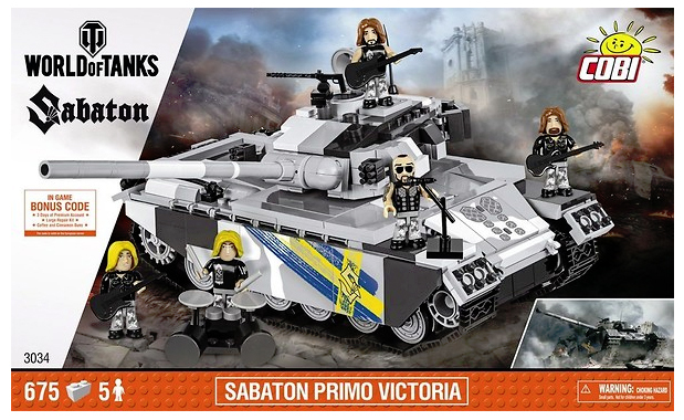 КОБИ World of Tanks - Шведский танк STRV 81  Sabaton Primo Victoria COBI-3034