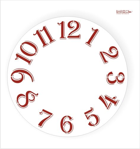 Трафарет для часов, Ц-14, Римский большой штрих, 30*30