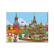 """Раскраска по номерам """"Москва"""", А3 (арт. Р-5491)"""