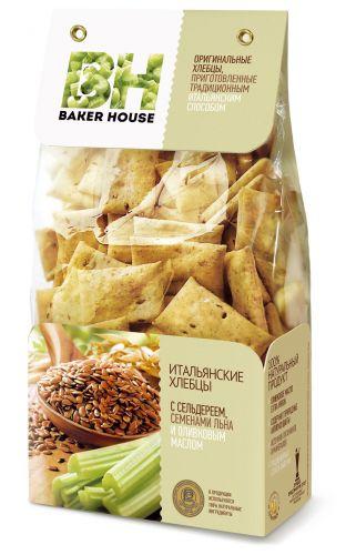 Baker House xlebci italyan kərəviz, kətan toxumu və zeytun yağı ilə, 250 gr