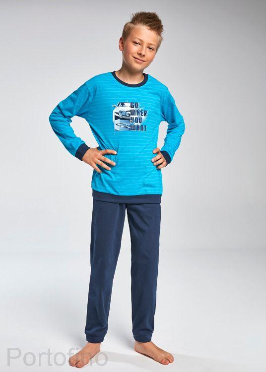 966-80 Пижама для мальчиков длинный рукав Cornette