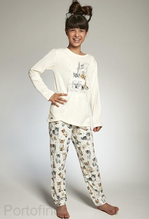 030-98 Пижама для девочек длинный рукав Cornette