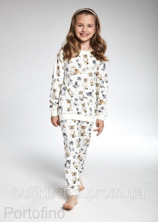 032-99 Пижама для девочек длинный рукав Cornette