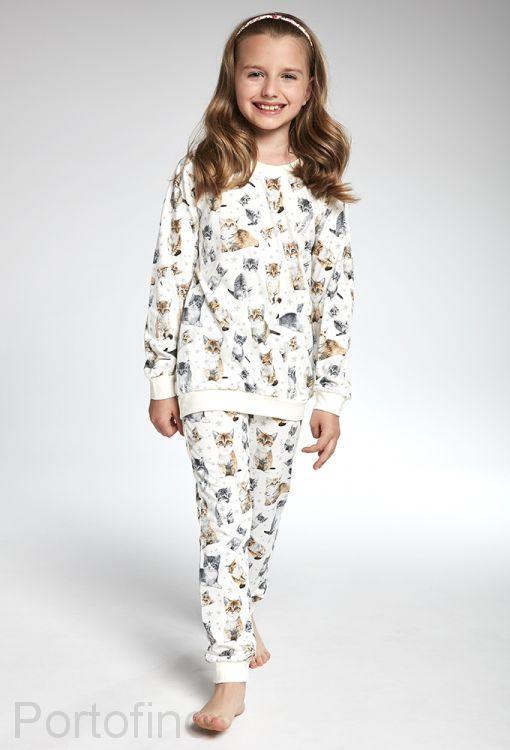 033-99 Пижама для девочек длинный рукав Cornette
