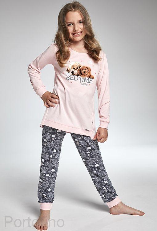 036-101 Пижама для девочек длинный рукав Cornette