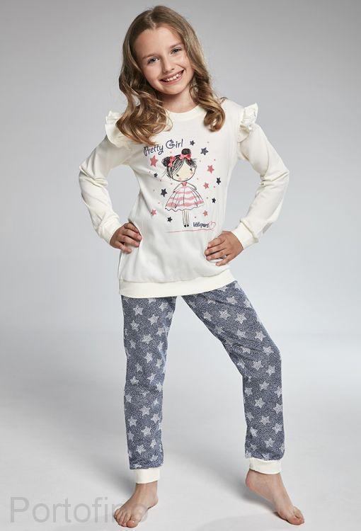 040-90 Пижама для девочек длинный рукав Cornette