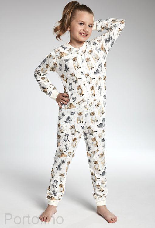 105-100 Пижама для девочек длинный рукав Cornette