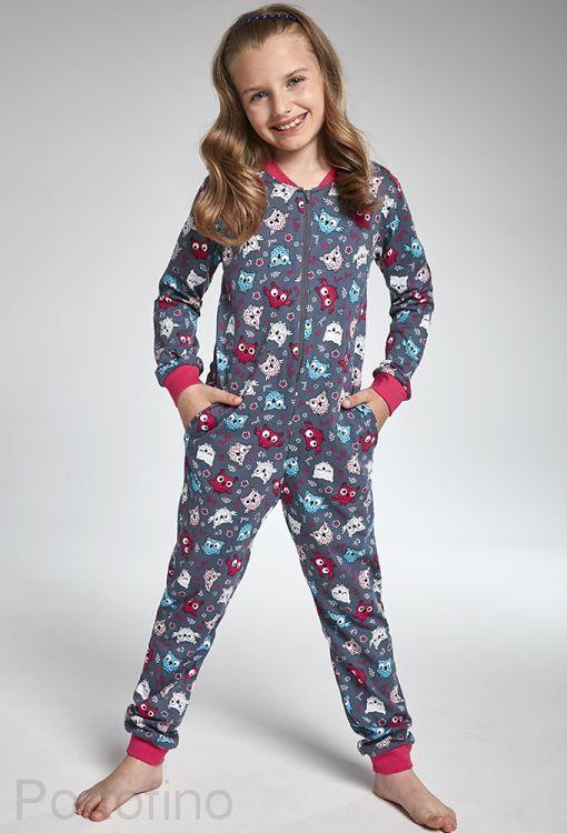 105-104 Пижама для девочек длинный рукав Cornette