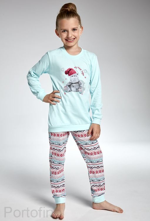 592-95 Пижама для девочек длинный рукав Cornette