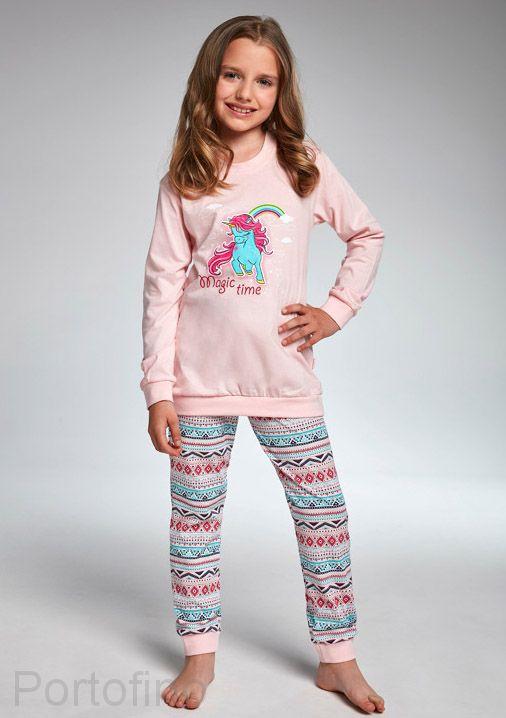 594-91 Пижама для девочек длинный рукав Cornette