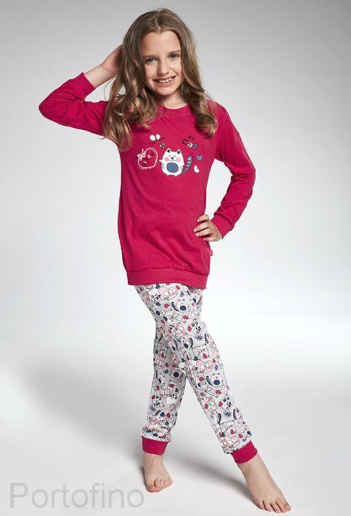 594-92 Пижама для девочек длинный рукав Cornette