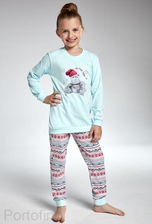 594-95 Пижама для девочек длинный рукав Cornette