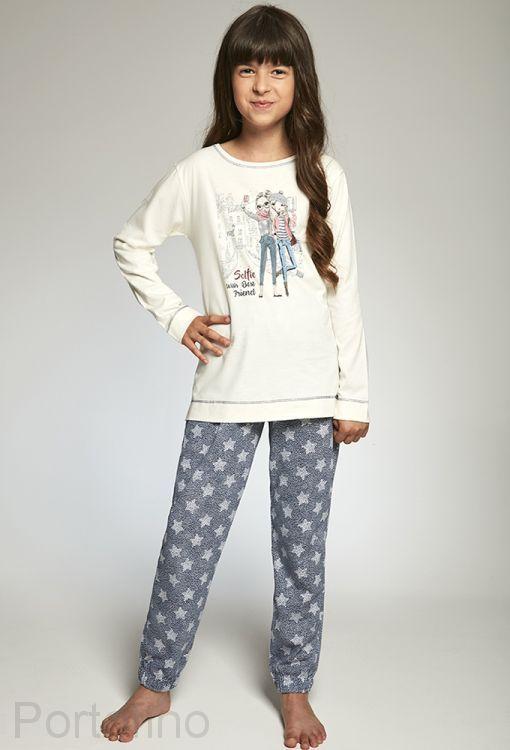 781-88 Пижама для девочек длинный рукав Cornette