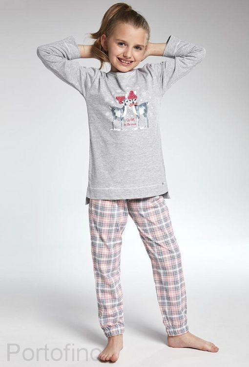 781-93 Пижама для девочек длинный рукав Cornette