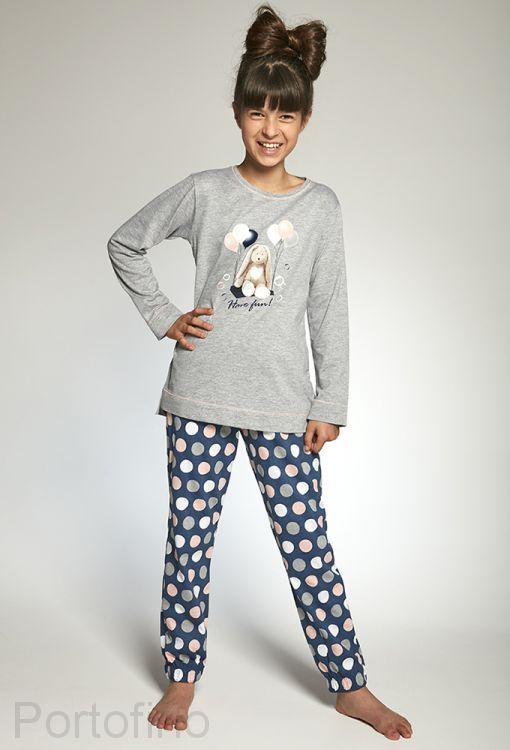 781-97 Пижама для девочек длинный рукав Cornette