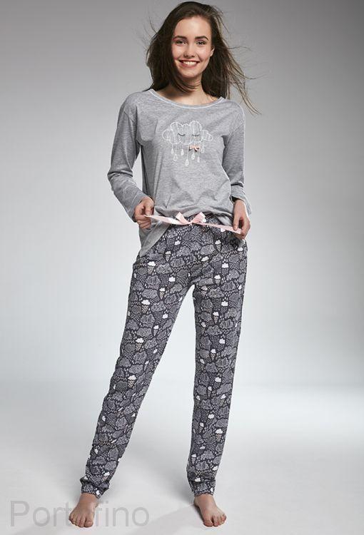 299-32 Пижама для девочек длинный рукав Cornette