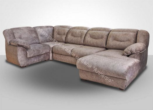 Вегас модульный угловой диван КО+У90+БД+Т