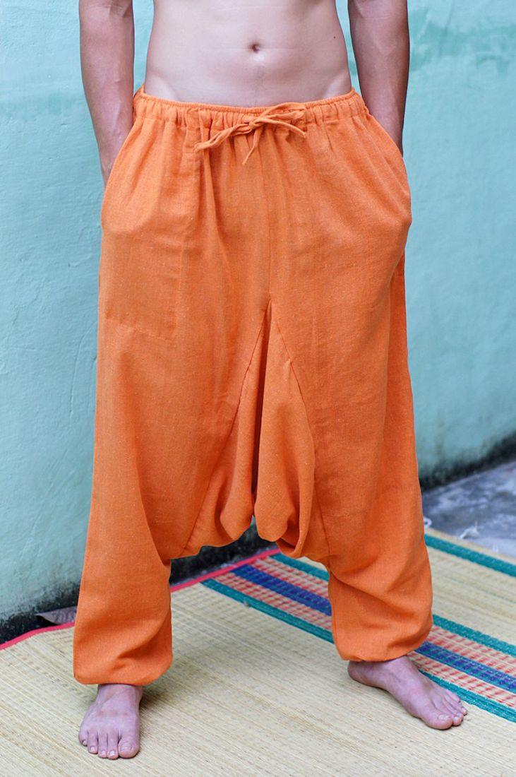 Яркие штаны афгани из органического хлопка (отправка из Индии)