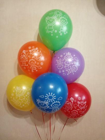 Детство латексные шары с гелием