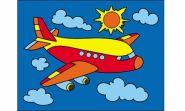 """Раскраска песком А5 """"Самолетик"""" (арт. Р-4389)"""