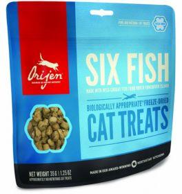 Лакомство для кошек Orijen FD Six Fish Cat treats 35г