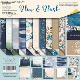 "Набор двусторонней бумаги 20х20см от Scrapmir ""Blue & Blush"""