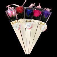 Роза из парфюмированного мыла в картонной упаковке Flowers, 30 см