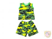 """Костюм для мальчиков: майка, шорты kC-KS049-RB (рибана камуфляж) код 01502 оптом """"Мамин Малыш""""   Цвет 2"""