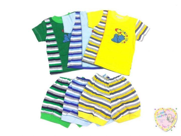 """Костюм с вставкой: футболка, шорты kC-KS069-SUkr(pl) (код 01506) оптом """"Мамин Малыш"""""""