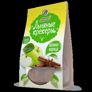 Крекеры льняные с ЯБЛОКОМ И КОРИЦЕЙ, 50 г