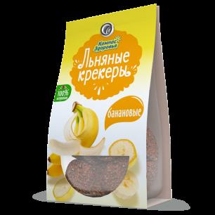 Крекеры льняные с БАНАНОМ, 50 г