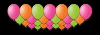 """Набор воздушных шаров с гелием """"Farfalla"""", 25 штук"""