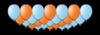 """Набор воздушных шаров с гелием """"Frozen Orange"""", 25 штук"""