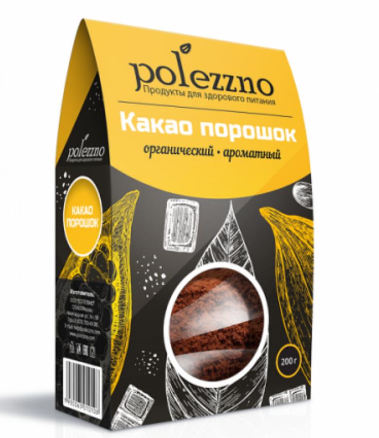 ПОЛЕЗЗНО Какао порошок органический 200 г